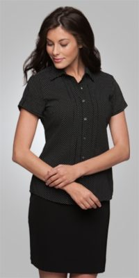 City Collection Stretch Spot S/S Blouse