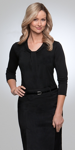 City Collection Pippa Knit 3/4 Sleeve Ladies Blouse